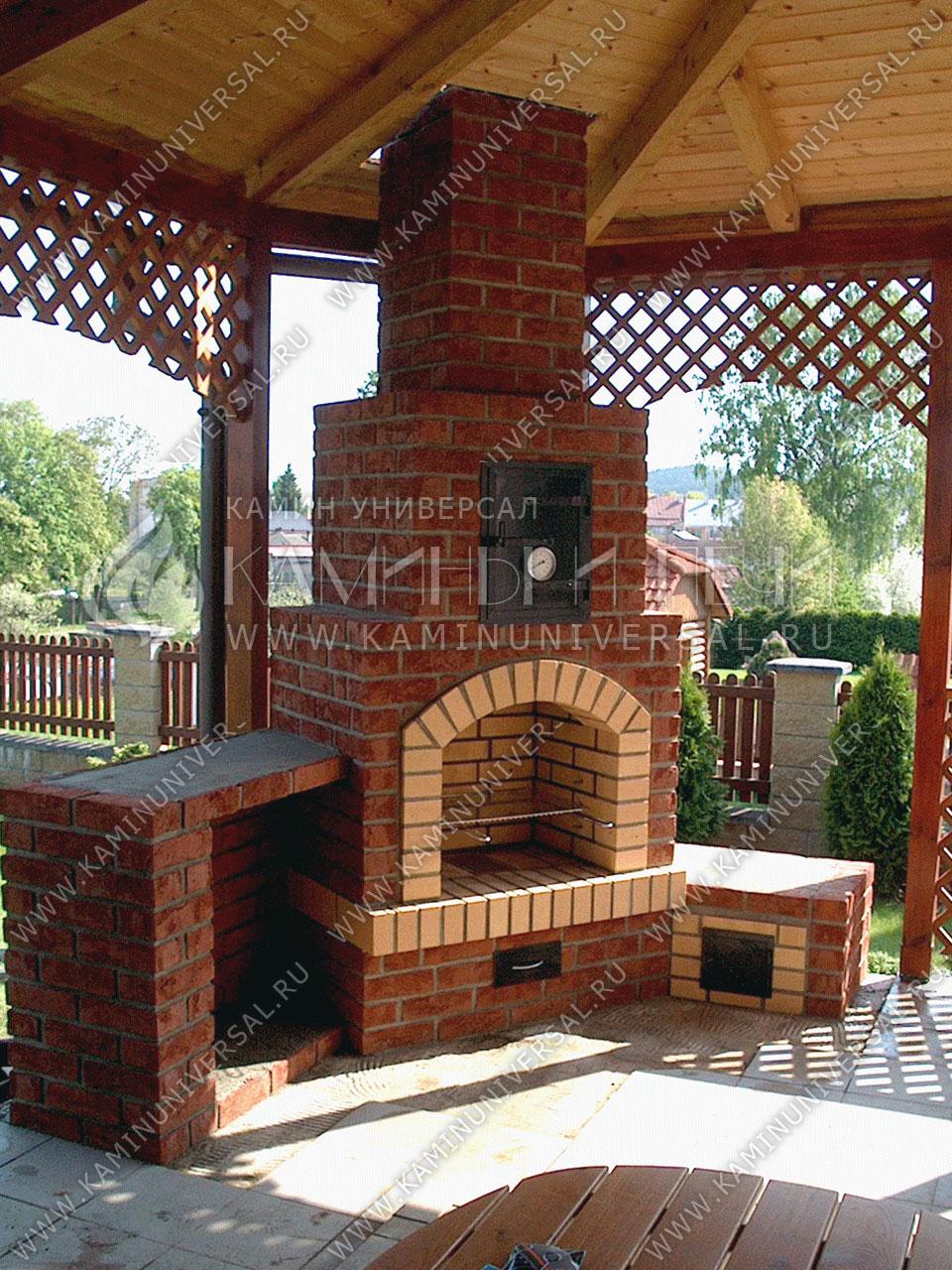 Садовая печь барбекю из кирпича электрокамины, электрические камины